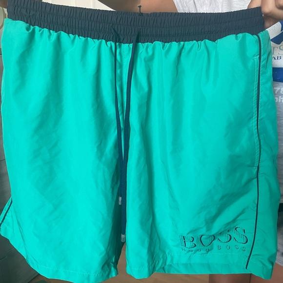 HUGO BOSS teal swimming trunks | Medium